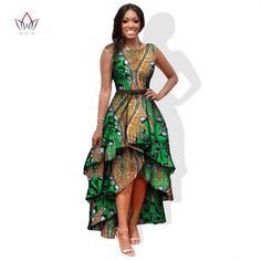 Ropa para mujeres del o-cuello bordado africano bazin africano dashiki dress women dress del algodón africano de impresión dress tamaño grande wy447