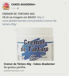 CREMOR DE TÁRTARO 40G VEJA na imagem em BAIXO: http://www.akademiamais.com/produto/cremor-de-tartaro-40g/