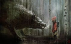 Little Red And Big Bad | LE CHAPERON ROUGE REVISITE ( LITTLE RED RIDING HOOD REVISITED ...