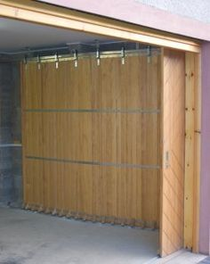 sliding garage doors. effing GENIUS
