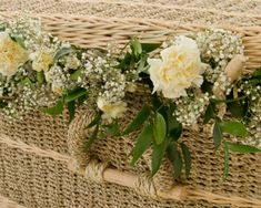 Traditional coffins can appear sombre and austere, our Pandanus have a much softer appearance which can be enhanced further still by weaving flower garlands into the weave. Casket Flowers, Funeral Flowers, Floral Garland, Flower Garlands, Funeral Floral Arrangements, Flower Arrangements, Funeral Memorial, Funeral March, Funeral Planning