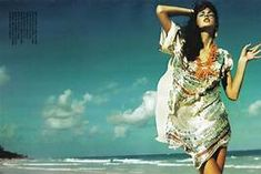 Photograph by Greg Kadel for 'Suggestions,' Vogue Italia March 2009 [scanned by Diciassette @ tfs, via fashion gone rogue] Desert Fashion, Boho Fashion, Fashion Beauty, Beach Fashion, Vogue Fashion, Indian Fashion, Fashion Trends, Fashion Photography Poses, Fashion Photography Inspiration