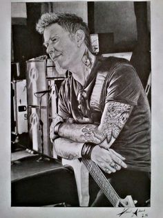 James Hetfield drawing on the A3 paper