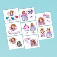 Amscan Disney Sofia the First Tattoos Princess Birthday Party Favours Pack), for sale online First Birthday Party Supplies, First Birthday Parties, It's Your Birthday, First Birthdays, Sofia Party, Princess Tattoo, Sofia The First, Cover Up Tattoos, Princess Birthday