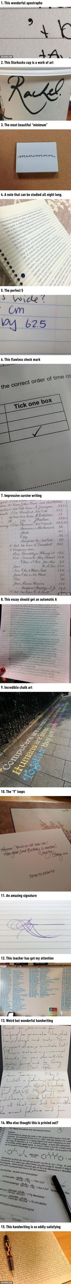 Pieces Of Handwriting That Are So Satisfying