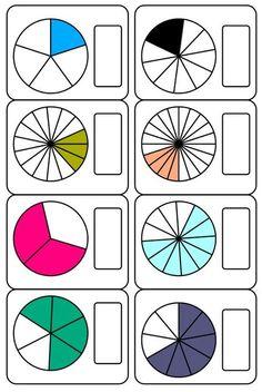 Os comparto un nuevo material que he creado para trabajar las fracciones. En él encontraréis 28 cortas más una serie de plantillas de fraccines en Grade R Worksheets, Fractions Worksheets, Math Fractions, Multiplication, Learning Numbers, Math Numbers, Math Games, Math Activities, First Grade Math