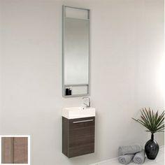 Fresca�Senza 15-1/2-in x 8-1/2-in Gray Oak Integral Single Sink Bathroom Vanity with Top (Faucet Included)