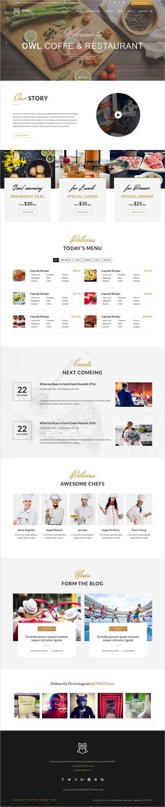 OWL is a modern, clean and professional responsive 3in1 #bootstrap HTML5 #template for restaurant and #cafe websites download now➩ https://themeforest.net/item/owl-restaurant-html5-website-template/19102752?ref=Datasata