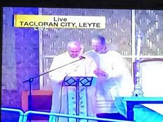 Pope Francis celebrates Mass at Tacloban, Leyte inspite of the weather.