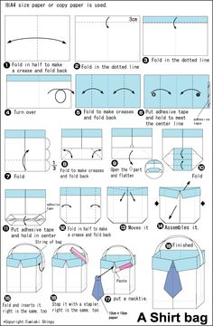 Origami Shirt Bag