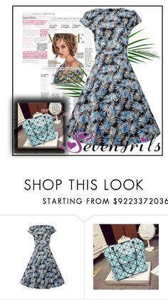"""SEVENGRILS.COM"" by lejla150 ❤ liked on Polyvore featuring vintage, dress, partydress and vintagedress"