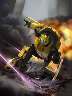 Autobot Bumblebee Artwork From Transformers Legends Game