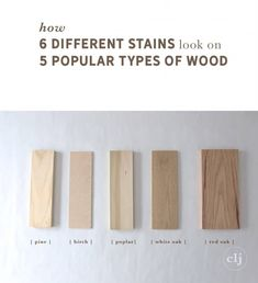 How 6 Different Stains Look On 5 Popular Types of Wood - Red Oak w Minwax Pickled Oak Red Oak Stain, Stain On Pine, White Stain, Green Wood Stain, Best Wood Stain, Red Wood, Minwax Stain Colors, Floor Stain Colors, Paint Colors