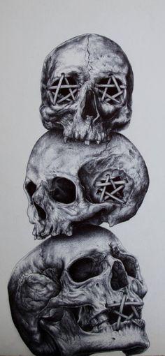Evil Skull Tattoo, Evil Tattoos, Clown Tattoo, Skull Tattoo Design, Skull Tattoos, Body Art Tattoos, Sleeve Tattoos, Tattoo Designs, Tattoo Sketches