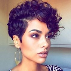 Image result for edgy curly haircuts