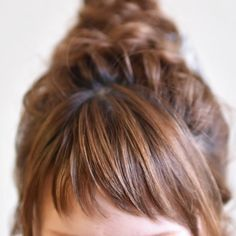 Long Hair With Bangs, Short Hair Cuts, Short Hair Styles, Short Bangs, Hair Colour Design, Hair Color, Hair Inspo, Hair Inspiration, Hair Arrange