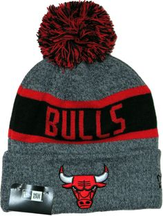 6e3e221a53e Chicago Bulls New Era NBA Marl Knit Bobble Hat