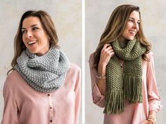 Quick and Easy Seed Stitch Scarf or Cowl Knitting Kit | Craftsy