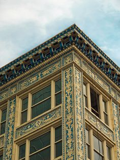 The Buhl Building downtown Pittsburgh. The oldest blue and white tera cotta building in the world.
