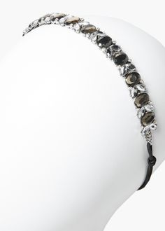 Faceted crystal hairband