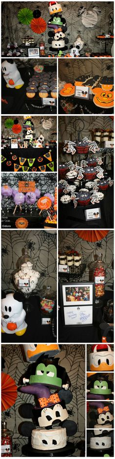 Some fun buffet ideas for a Mickey Mouse & Friends Halloween Party. - Some fun buffet ideas for a Mickey Mouse & Friends Halloween Party. Mickey Halloween Party, Fröhliches Halloween, Mickey Party, Mickey Mouse Birthday, Halloween Birthday, Halloween Themes, 2nd Birthday, Halloween 1st Birthdays, Elmo Party