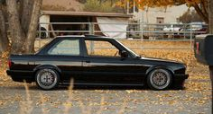 RA wheels on an E30 BMW - the OEM+ style RA works just as well on a rear wheel drive cars as a front wheel drive car.