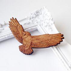 Image of Flying Owl Brooch - Maria Allen Jewellery