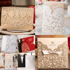 Collection of Best Selling Business, Party, Wedding Invitations Cards, Favor Gift Candy Boxes, 2016 New!