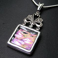 Iridescent textured stained glass pendant | Flickr - Photo Sharing!