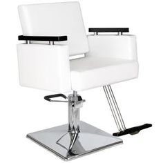 White All Purpose Hydraulic Recline Barber Chair Shampoo