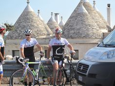 Italian VeloTours, Apulia 2014 riding to Alberobello.