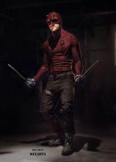 "Concept art of Daredevil / Matt Murdock from Marvel's ""Daredevil"" Netflix series Comic Book Characters, Marvel Characters, Comic Character, Comic Books Art, Comic Art, Character Concept, Daredevil Matt Murdock, Daredevil Elektra, Daredevil Cosplay"