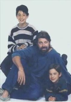 Captain Phil Harris with Josh and Jake Harris. This picture makes me laugh every time hahaha