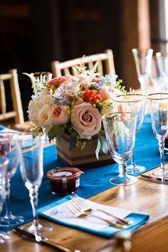 Gorgeous floral #centerpieces @maineseasons