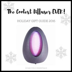 2016 Holiday Gift Guide for Essential Oil Addicts - via Home Field Essentials Aroma2Go Cascade Fountain Diffuser - bluetooth, fountain and essential oils