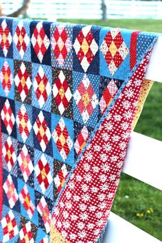 New Gingham Girls Pattern – A Stitch in Time quilt pattern by Amy Smart, Diary of a Quilter Blue Quilts, Scrappy Quilts, Quilting Fabric, Colorful Quilts, Easy Quilts, Quilting Tutorials, Quilting Designs, Quilting Ideas, Quilt Inspiration