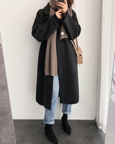 Death By Elocution Korean Winter Outfits, Winter Fashion Outfits, Korean Outfits, Fall Winter Outfits, Look Fashion, Autumn Winter Fashion, Hipster Fashion, Casual Outfits, Cute Outfits