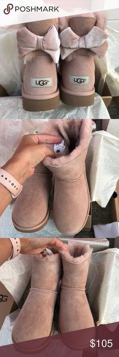 UGG water resistant Bailey bow II ribbon Sz 11 new UGG authentic water resistant Bailey bow II ribbon Sz 11 new color dri 100% authentic! Itm#cifi UGG Shoes