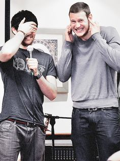 Colin Morgan and Tom Hopper <3