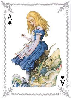 Fabric Panels Alice In Wonderland Playing Cards 100% cotton Quilting Applique