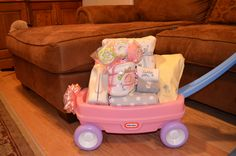 Thinking of putting together a Welcome Wagon. It's so cute plus the baby has a pull toy when she starts walking so that's a bonus.