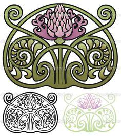 Thistle Ornament — Стоковая иллюстрация #53416139
