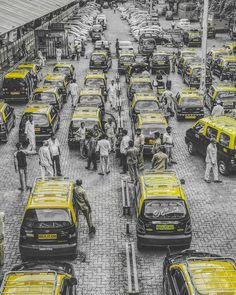 Black and yellow Picture taken at #Mumbai central railway station. #India #IncredibleIndia #Taxi