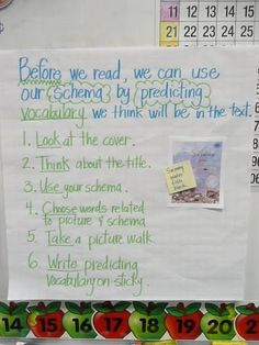 predicting vocabulary anchor chart, I think I am going to be using more anchor charts this year! I am getting addicted to them:)..