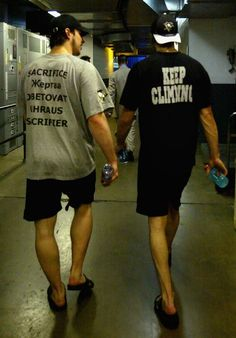 Sidney Crosby and Marc-Andre Fleury demonstrate that #NHL players come in a variety of shapes and sizes. #PittsburghPenguins #LetsGoPens