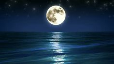 Once in a Blue Moon.... the  moon shines on the ocean!