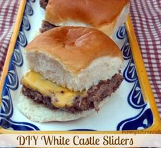 White Castle Sliders -- Going to try with diced carmelized onions instead of dried.