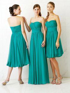 Sheath/Column Sweetheart Green Ruffles Chiffon Sleeveless Floor-length Bridesmaid Dress at Millybridal.com
