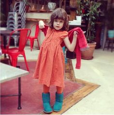 We LOVE this photo and LOVE the Jacadi dress! Kids Wear, Maternity, Nyc, How To Wear, Vintage, Clothes, Dresses, Fashion, Outfit