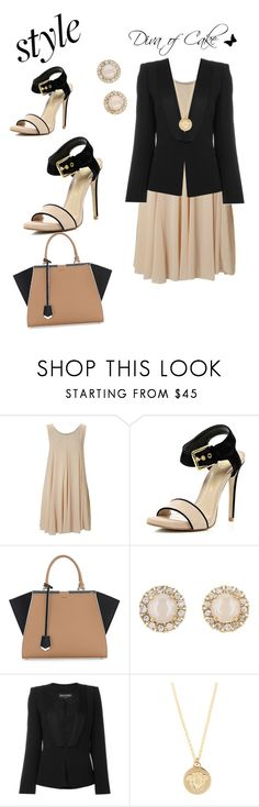 """""""Office time"""" by kercey ❤ liked on Polyvore featuring TFNC, River Island, Fendi, Kate Spade, Balmain and Versace"""